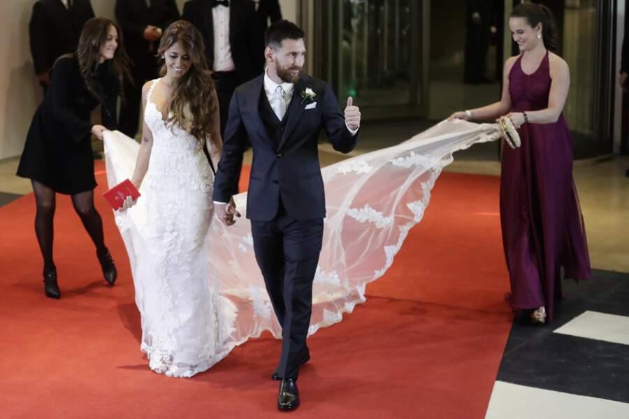 Lionel Messi et son amie d'enfance Antonella Roccuzzo se sont dit oui ce vendredi 30 juin