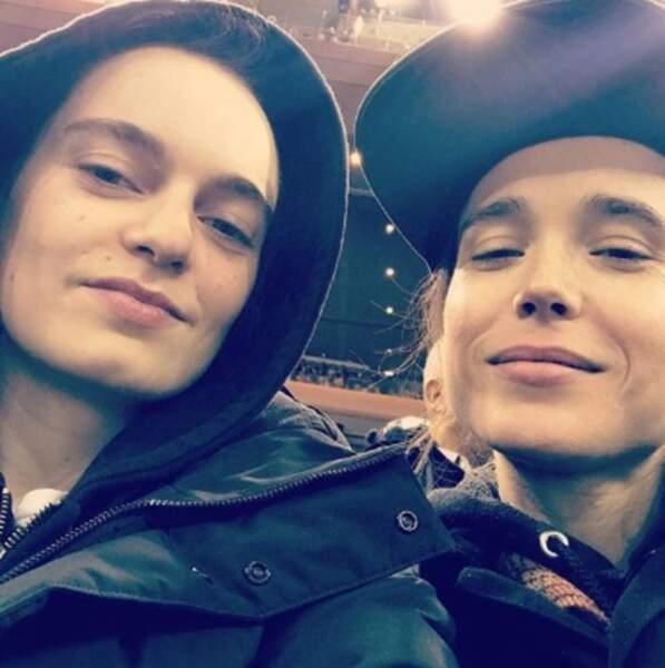 Et c'est toujours l'amour fou entre Ellen Page et son épouse Emma !
