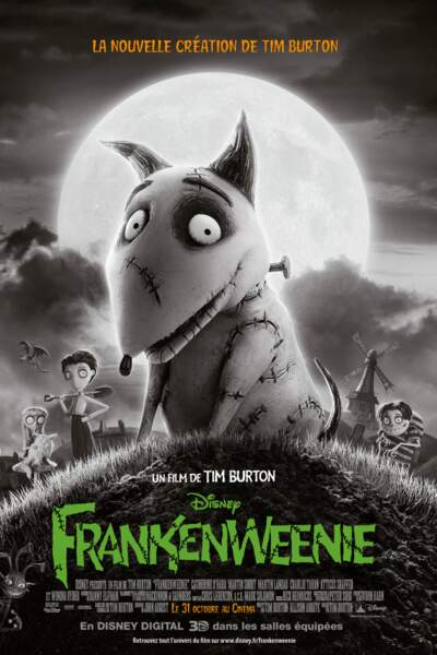 En 2012, Tim Burton sort la version longue de son court-métrage sorti en 1984, Frankenweenie