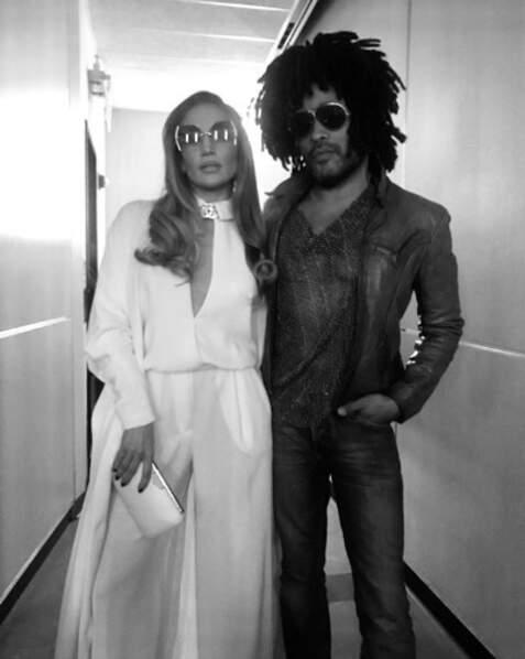 Jennifer Lopez et Lenny Kravitz se sont croisés par hasard à New York.