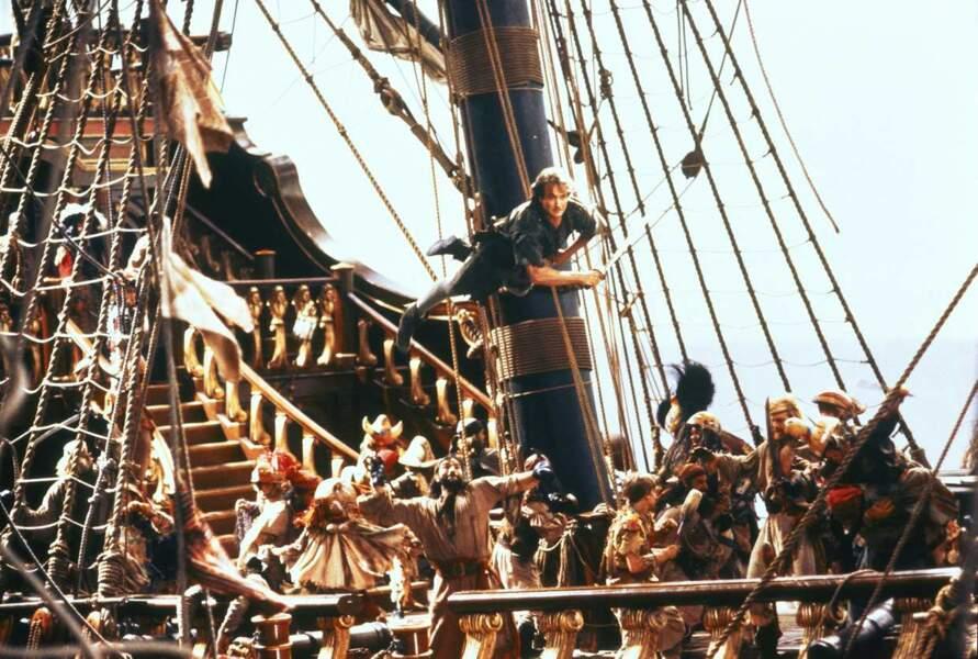 Robin Williams dans Hook ou la Revanche du capitaine Crochet en 1991