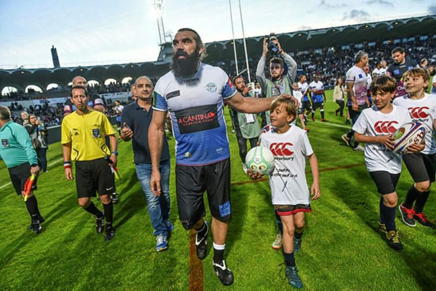 L'ex-star du rugby Sébastien Chabal était également de la partie