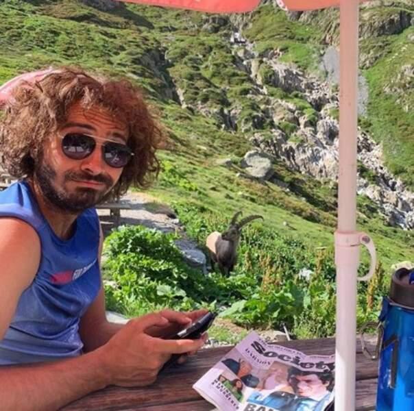 Maxime Musqua a croisé un bouc en Haute-Savoie.