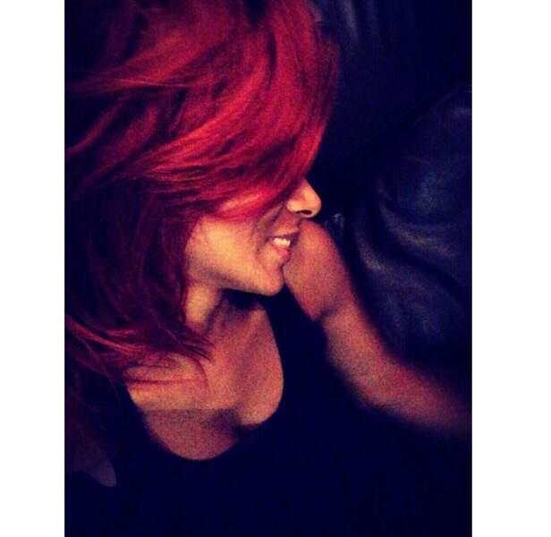 Elle a aussi beaucoup créé le buzz avec sa chevelure rouge...
