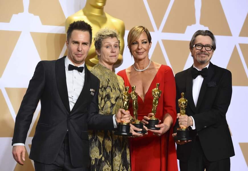 Sam Rockwell, Frances McDormand, Allison Janney et Gary Oldman, élus meilleurs acteurs de cette édition