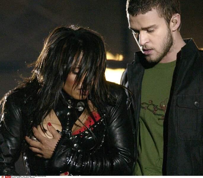 Janet Jackson et Justin Timberlake. Visiblement, il y a un petit problème...