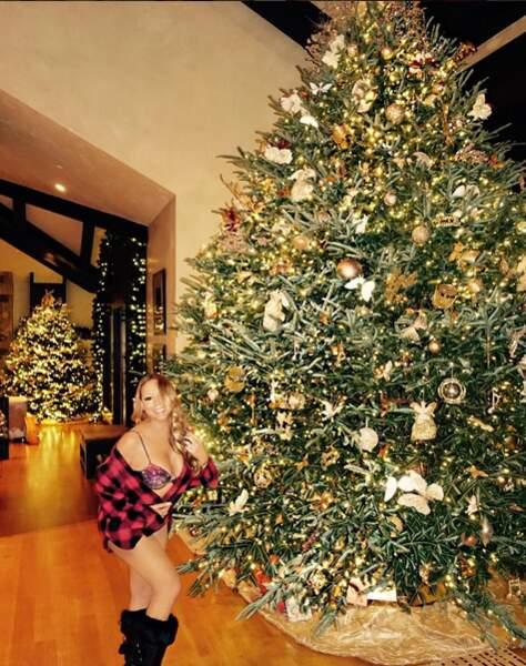 Que serait Noël sans sapin ? Celui de Mariah Carrey est énorme