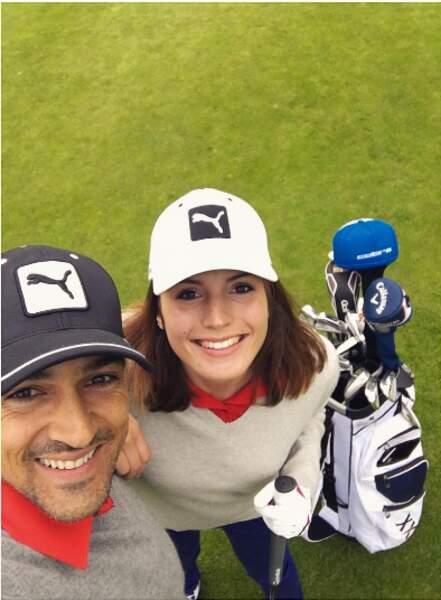 Jean-Pascal initie sa chérie au golf, sa passion