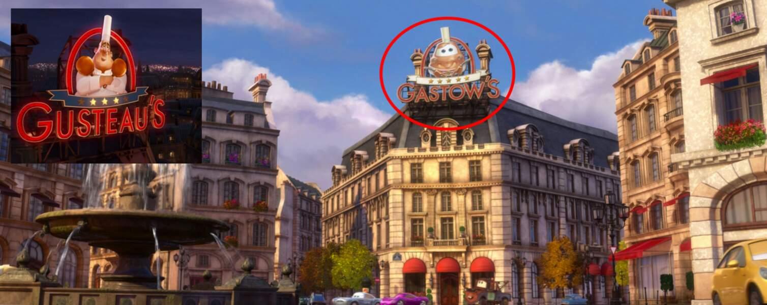 Cars 2 : le restaurant français Gusteau apparaît aussi dans ce film
