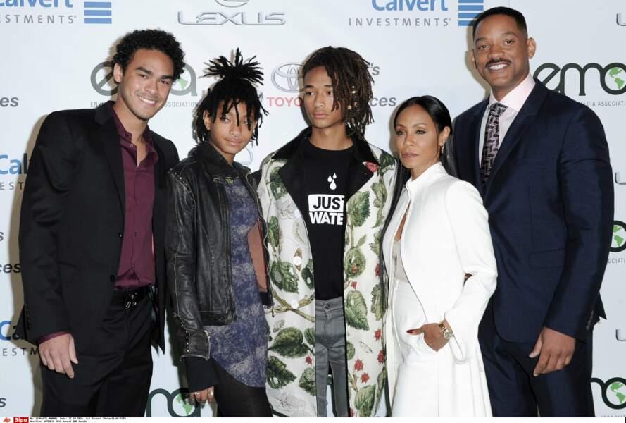 Will, Jada, Trey, Jaden et Willow Smith : Une famille très unie.