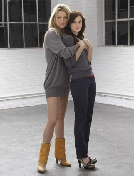 Serena et Blair version soft, en tenue idéale pour une soirée cocooning entre copines