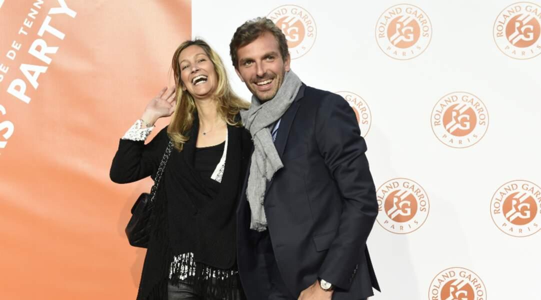 Julien Benneteau rayonnant auprès de son épouse Karen