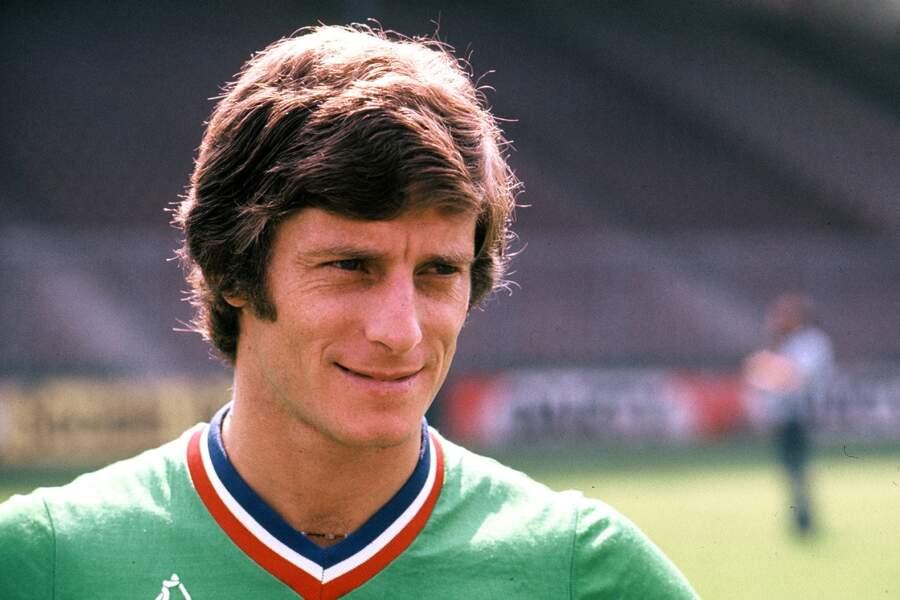 Le capitaine stéphanois Jean-Michel Larqué, certainement l'un des Verts les plus connus...