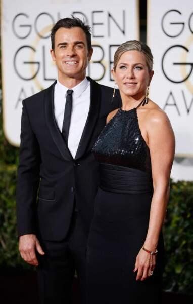 Hop, la voici au bras de son fiancé, Justin Theroux