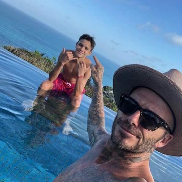 David Beckham nous a indiqué où était son fils Romeo, au cas où on serait myope.