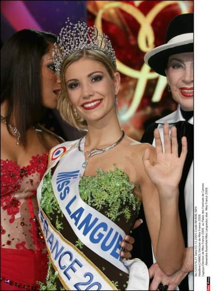 Miss France 2006 et Miss Europe 2006 : Alexandra Rosenfeld (Miss Languedoc)
