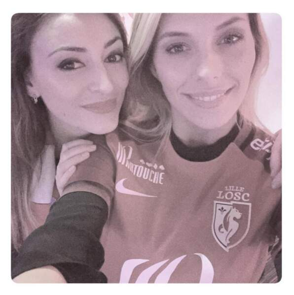 Question sport, deux Miss France fans de sport réunies pour une photo ! Rachel Legrain-Trapani et Camille Cerf.
