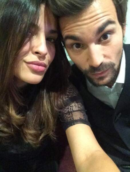 Minute selfie : Bertrand Chameroy et Gyselle Soares....