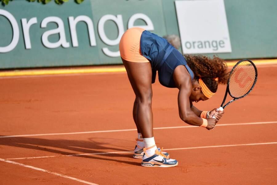Serena Williams en position recherche d'énergie...