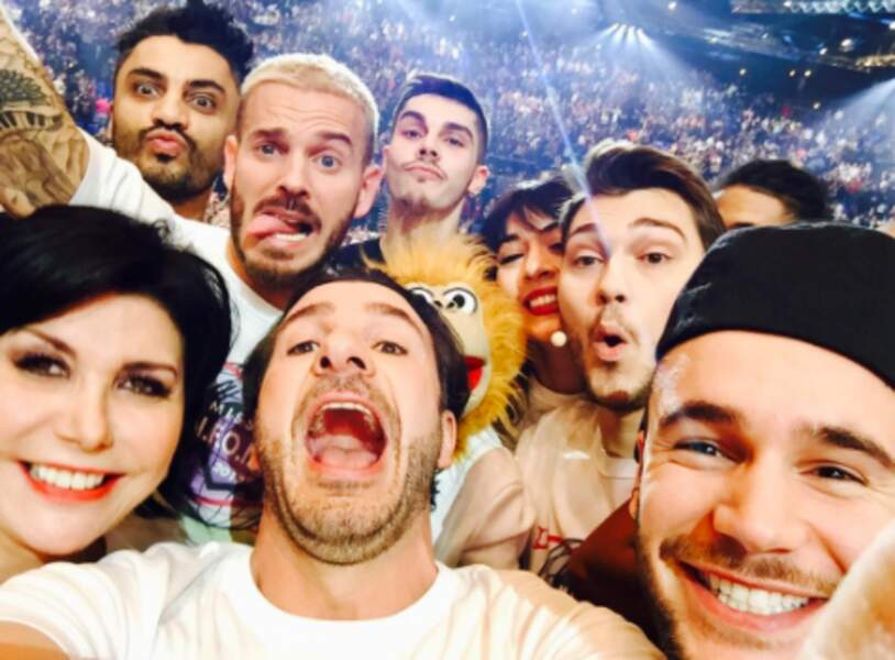 Il a aussi pris un joli selfie avec sa bande d'Enfoirés.