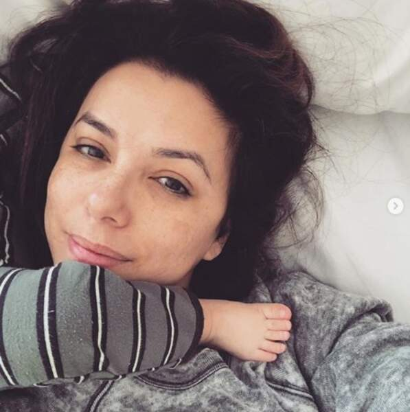 Les dimanches matins chez Eva Longoria ressemblent à ça désormais.