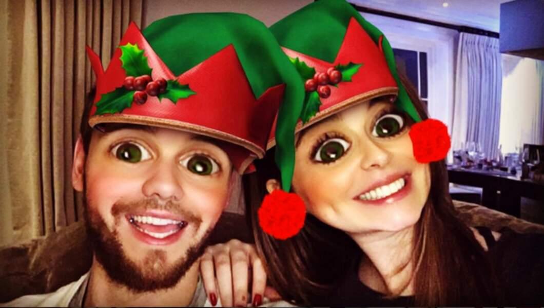 Un autre Liam... Liam Payne et Cheryl Cole qui ont abusé du filtre snapchat