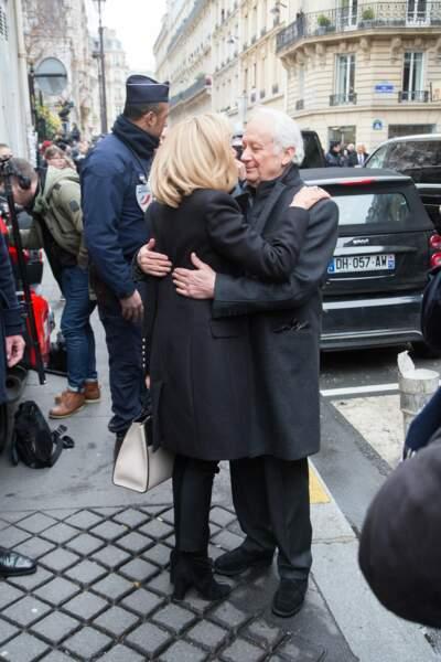 Brigitte Macron et Jean-Marie Cavada