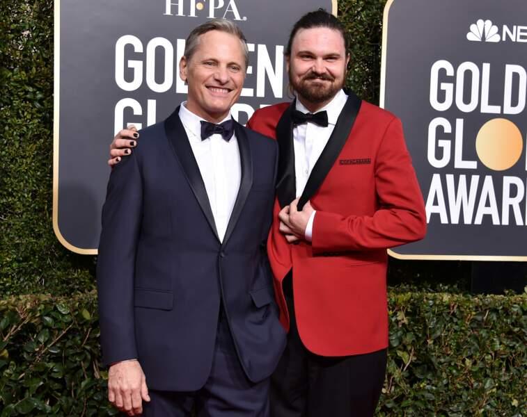 Viggo Mortensen (Le seigneur des anneaux) est venu avec son fils Henry