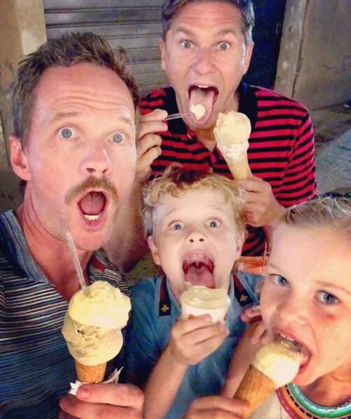 Neil Patrick Harris et sa petite famille ont mangé des glaces dans l'autre Venise, en Italie.