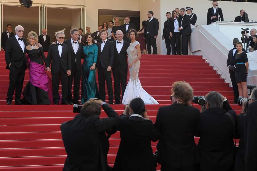 """L'équipe du film """"Youth', star de la montée des marches le 20 mai 2015 au Festival de Cannes."""