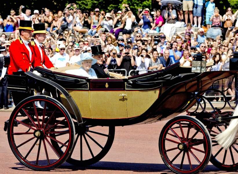 La cérémonie marque les célébrations officielles de l'anniversaire de la reine Elizabeth II