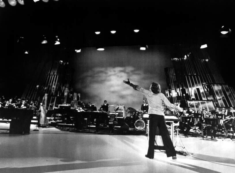Michel Legrand et l'orchestre symphonique de Montréal dans les années 1970