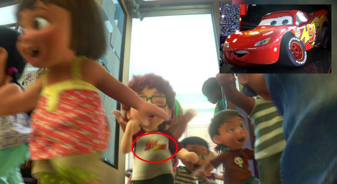 Toy Story 3 : le célèbre numéro de Flash McQueen est aussi porté sur le t-shirt d'un petit garçon