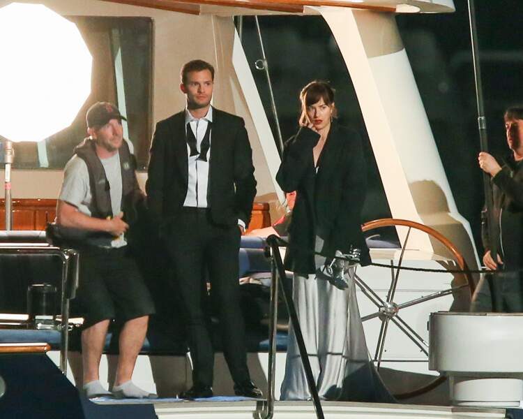 Jamie Dornan & Dakota Johnson ont tourné sur un bateau...