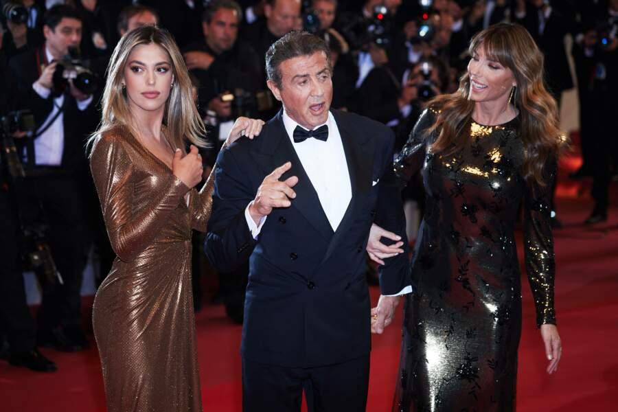 Sylvester Stallone entouré de sa fille Sistine Rose et sa femme Jennifer Flavin