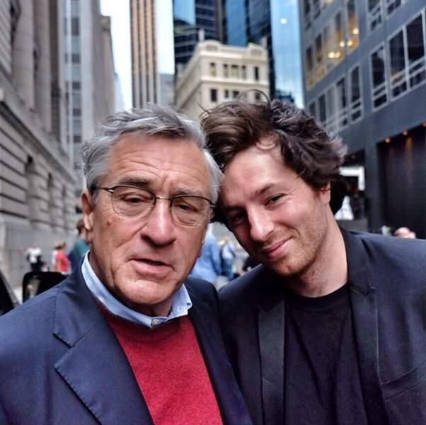 Et Jean Imbert pose avec son client le plus célèbre : Robert de Niro
