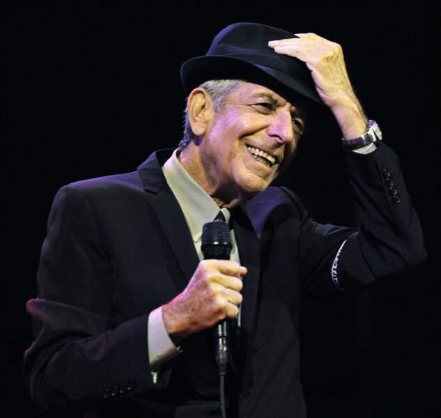 Le chanteur Leonard Cohen est décédé le 7 novembre 2016 à l'âge de 82 ans