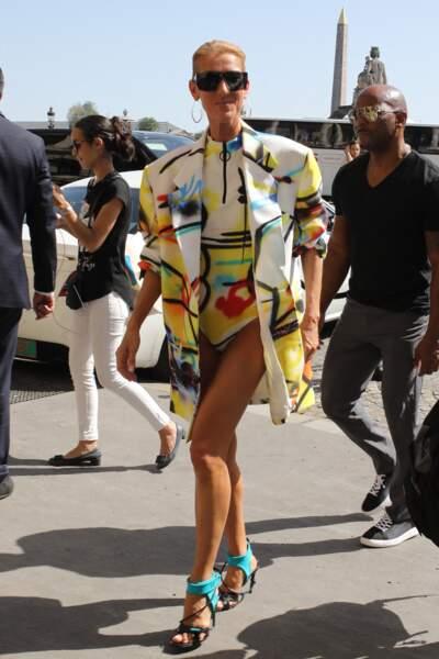 La canicule, Céline Dion l'affronte en body