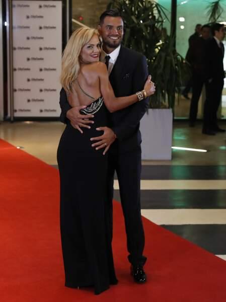 La star argentine de Manchester United Marcos Rojo et son épouse, Eugenia Lusardo