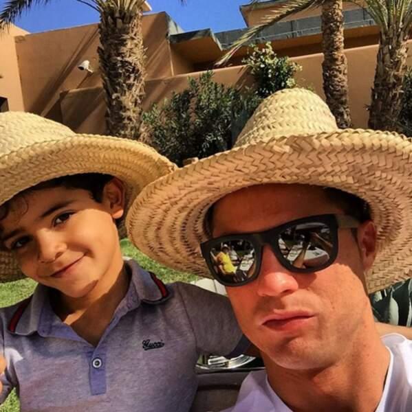 Selfie chapi-chapo pour Cristiano Ronaldo et Cristiano Ronaldo Jr.