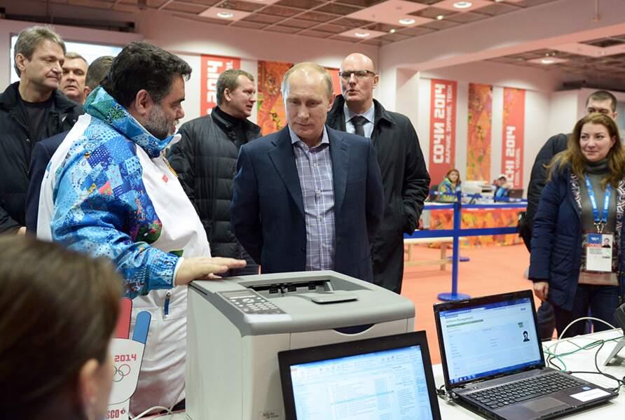 Vladimir contrôle que tout se passe bien dans ses JO.
