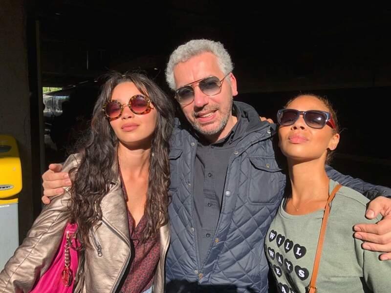 Avec ses amis de Demain nous appartient, Atmen Kelif (Bilel), et Aurélie Konaté (Oriane)