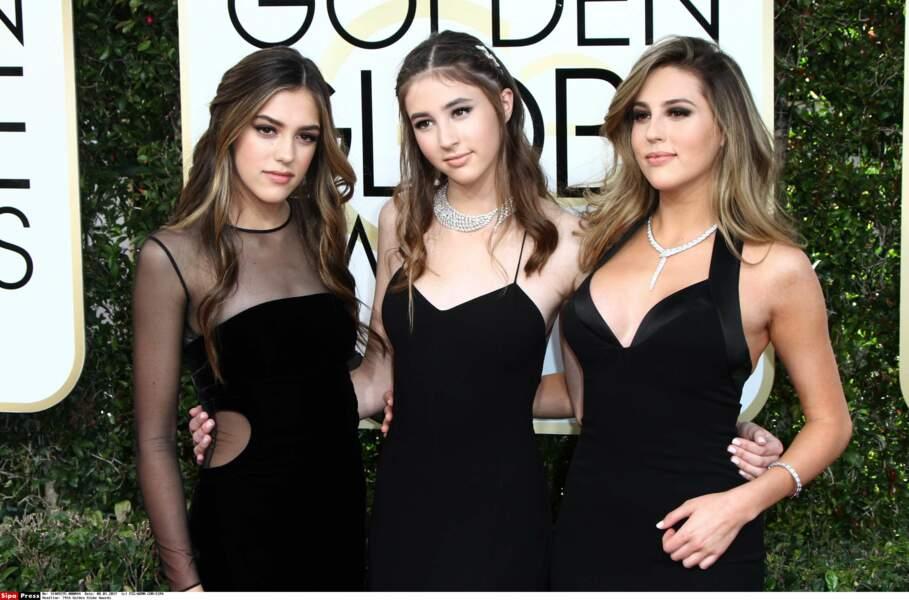 Sistine, Scarlet et Sophia Stallone les filles de Sylvester élues Miss Golden Globes en 2017