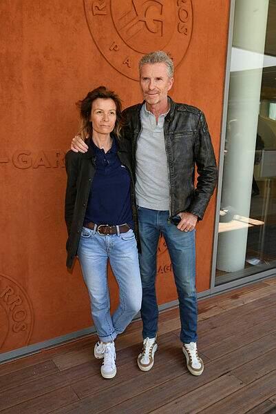 Fans de sport, les Brogniart sont en goguette à Roland Garros
