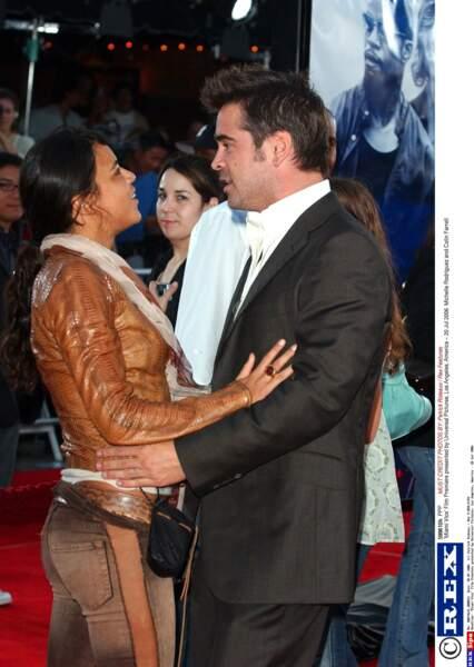 L'acteur aura une histoire avec Michelle Rodriguez en 2002