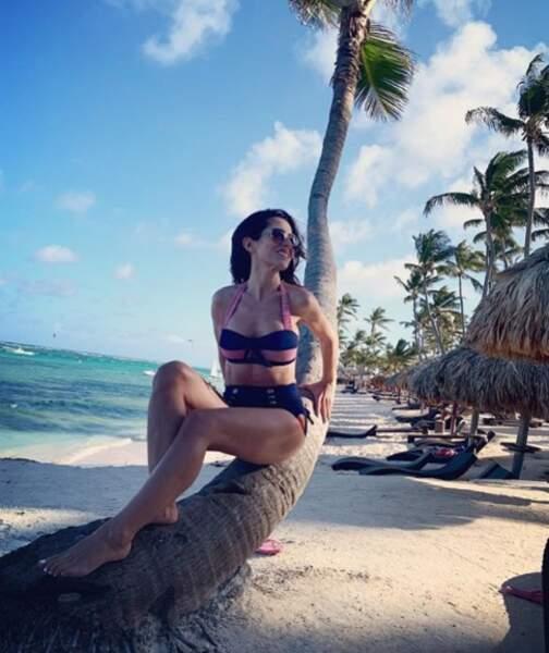 ... et Fabienne Carat pin-up à Punta Cana !