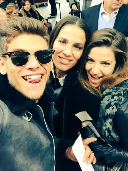 Rayane Bensetti, Denitsa et Elisa Tovati en route pour les NRJ Music Awards