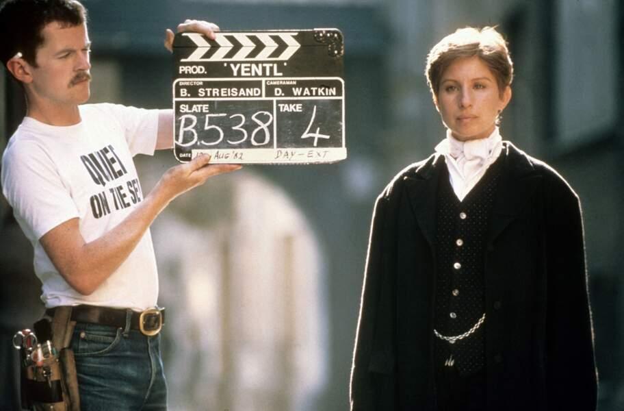 Barbra Streisand en 1983 sur le tournage du film Yentl, qui a valu un autre oscar au compositeur Michel Legrand