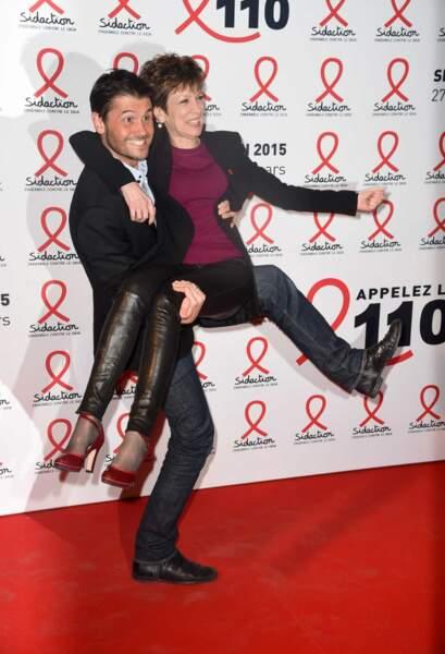 Christophe Beaugrand et Catherine Laborde se lâchent lors de la conférence de presse du Sidaction 2015