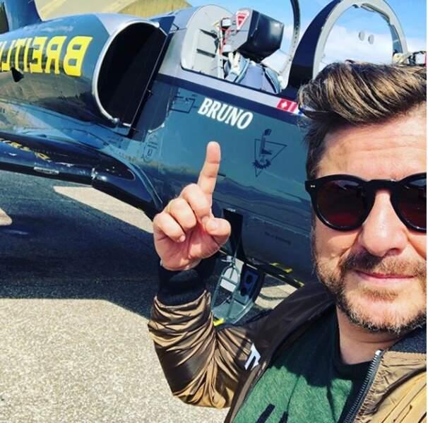 Bruno Guillon en mode Top Gun